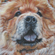 Chow Prints - Chow Chow Portrait Print by Lee Ann Shepard