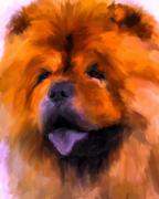 Chow Prints - Chow Portrait Print by Jai Johnson