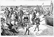 Pot Boat Framed Prints - Chowder Party, 1873 Framed Print by Granger