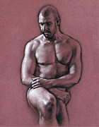 Male Nude Drawings - Chris 2 by Chris  Lopez