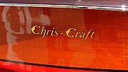 Docked Prints - Chris Craft Logo Print by Michelle Calkins