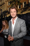 Captain America Prints - Chris Hemsworth At Arrivals For Captain Print by Everett