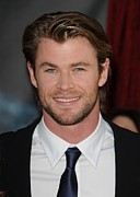 Red Carpet Prints - Chris Hemsworth At Arrivals For Thor Print by Everett
