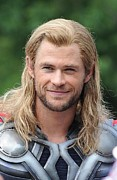 Avengers Framed Prints - Chris Hemsworth On Location For The Framed Print by Everett