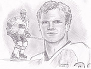 Flyers Hockey Drawings - Chris Pronger by Chris  DelVecchio