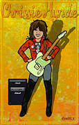 Rock N Roll Digital Art - Chrissy Hynde by John Goldacker