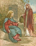 Talking Painting Prints - Christ and The Woman of Samaria Print by John Lawson