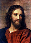 Portraits Painting Prints - Christ at 33 Print by Heinrich Hofmann