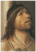 Jesus Art Paintings - Christ at the Column by Antonello Da Messina