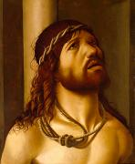 Crucified Prints - Christ at the Column Print by Antonio de Saliba