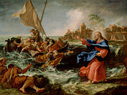 Christ Walking On Water Posters - Christ at the Sea of Galilee Poster by Sebastiano Ricci