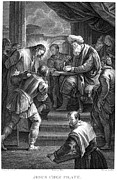 Pontius Pilate Prints - Christ Before Pilate Print by Granger