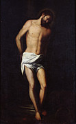 Crucifix Painting Prints - Christ bound to the column Print by Alonso Cano