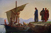 Mountain Men Prints - Christ Calling the Apostles James and John Print by Edward Armitage
