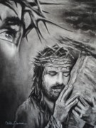 Jesus Drawings - Christ by Carla Carson