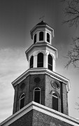 Old Christ Church Prints - Christ Church Bell Tower II Print by Steven Ainsworth