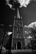 Old Christ Church Prints - Christ Church Cathedral Originally St Thomas Lisburn City Centre County Antrim  Print by Joe Fox