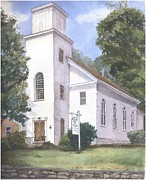 East Hampton Painting Framed Prints - Christ Church Framed Print by Katherine  Berlin