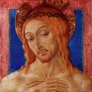 Christ Portrait Prints - Christ Crowned With Thorns Print by Matteo di Giovanni