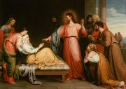 The Mother Painting Prints - Christ healing the mother of Simon Peter Print by John Bridges