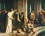 Sick Painting Prints - Christ Healing The Sick at Bethesda Print by Pg Reproductions