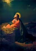 Christ In Garden Of Gethsemane Print by Heinrich Hofmann
