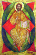 Byzantine Icon Originals - Christ in Majesty I by Tanya Ilyakhova