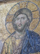 Religious Artist Photos - Christ in Mosaic by Sandy Collier
