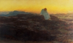 Dusk Paintings - Christ in the Wilderness by Briton Riviere