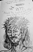 Christ Drawings - Christ by Jamey Balester