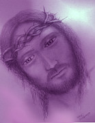 Christ Drawings - Christ by Larry Montgomery
