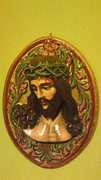 Christ Sculpture Framed Prints - CHRIST Man of Sorrows Framed Print by Sofia Panagiwtopoulou