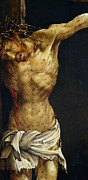 Religious Paintings - Christ on the Cross by Matthias Grunewald