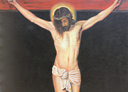 Crucifix Paintings - Christ on the Cross by Sonia Flores Ruiz