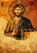 Christian Orthodox Prints - Christ Pantocrator Print by Dean Harte