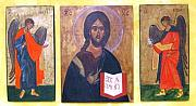 Byzantine Painting Originals - Christ Pantocrator by Joseph Malham