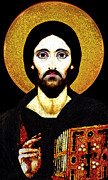Devotional Originals - Christ Pantocrator by Li   van Saathoff