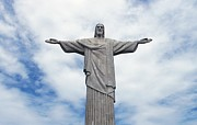 Sculpture Art Prints - Christ the Redeemer Print by Paul Landowski
