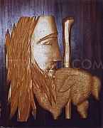 Thermocol Art - Christ With Lamb by Silvester Attractte