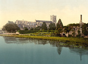 Christchurch Framed Prints - Christchurch - England - The Priory Church Framed Print by International  Images