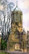 Watercolour Paintings - Christchurch College Oxford by Mike Lester