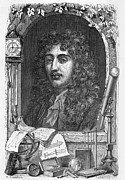 1876 Framed Prints - Christiaan Huygens, Dutch Physicist Framed Print by
