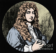  17th C Framed Prints - Christiaan Huygens, Dutch Polymath Framed Print by Omikron