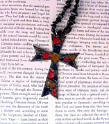 Mosaic Jewelry Posters - Christian  Cross Poster by Cynthia Amaral