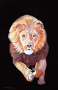 Ferocity Posters - Christian the Lion Poster by Susana Falconi
