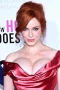 Christina Hendricks Posters - Christina Hendricks At Arrivals For I Poster by Everett