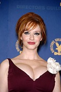 Christina Art - Christina Hendricks In The Press Room by Everett