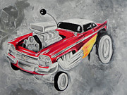 Mopar Painting Metal Prints - Christine Wild Style Metal Print by Marco Machatschke