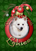 American Greetings Posters - Christmas - Deck the Halls with Eskies Poster by Renae Frankz