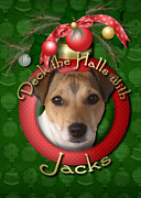 Jack Russell Digital Art - Christmas - Deck the Halls with Jacks by Renae Frankz